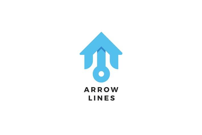 Arrow Lines Logo Template