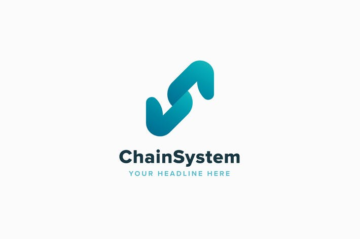 Chain System Logo Template