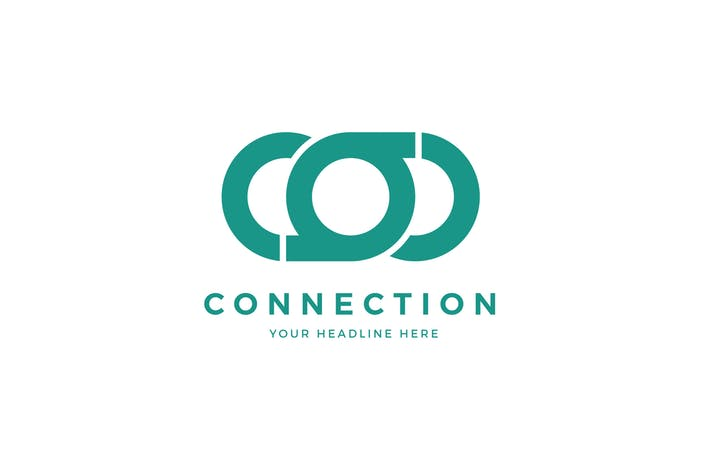 Connection Logo C O Letter Template