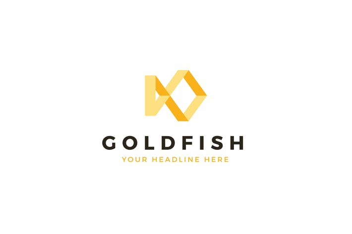 Gold Fish Logo Template