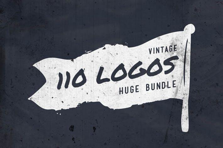 110 Vintage Logos Bundle