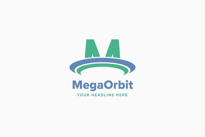 Mega Orbit M Letter Logo Template