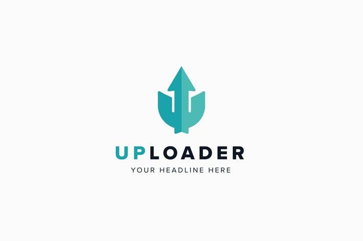 UpLoader U Letter Logo Template