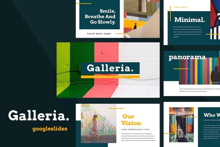 Galleria Colorful Google Slides Presentation