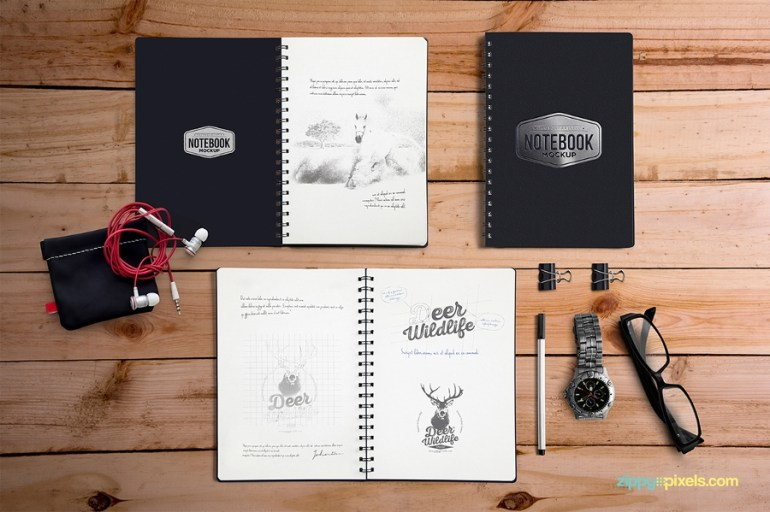 Free Notebook Mockup For Branding