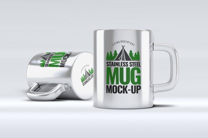 Stainless Steel Mug Mock-Up