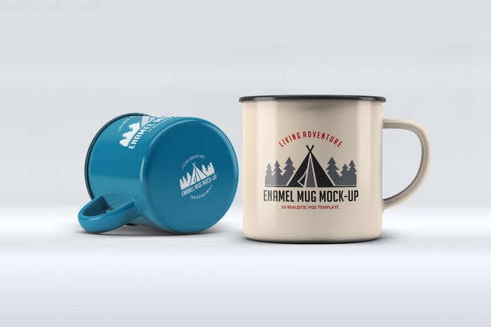 Enamel Mug Mock-Up