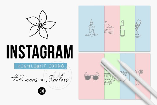 Instagram Story Icons - Highlights