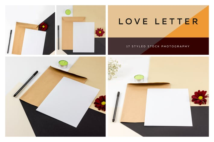 Love Letter - Styled Photo Scene