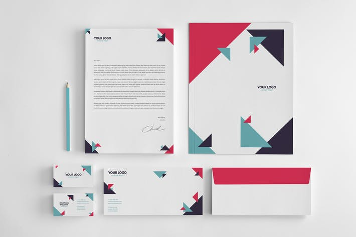 Business and Corporate Geometric Stationery