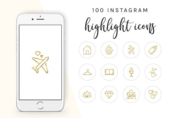 100 Instagram Story Highlight Icons