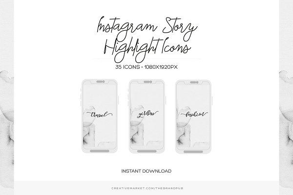 Minimal Instagram Highlight Covers