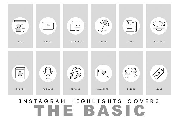 Modern and Basic Instagram Highlits