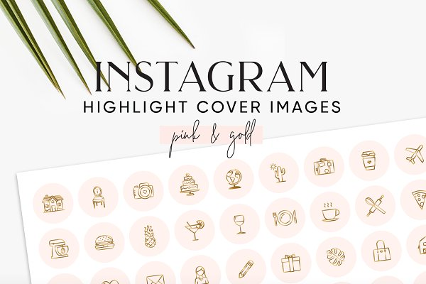 Pink Gold Instagram Highlight Cover…