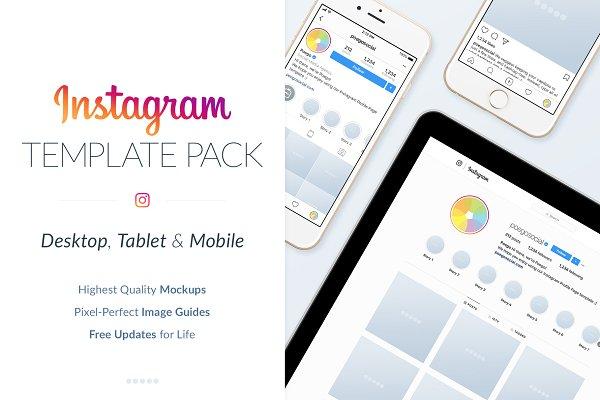 Instagram Social Media Template Pac…
