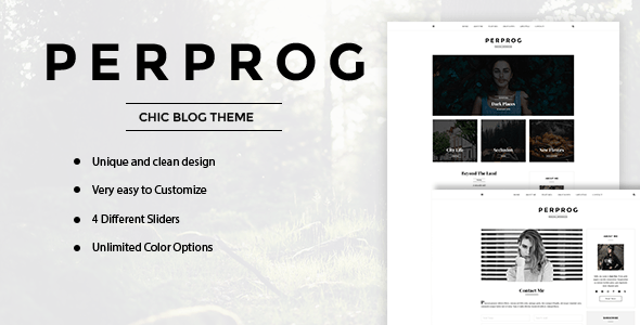 PerProg - Minimalist WordPress Blog Theme