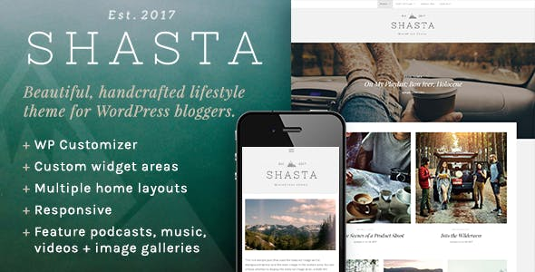 Shasta - A Responsive WordPress Theme For Lifestyle Bloggers