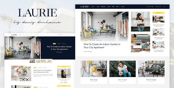 Laurie - A WordPress Blog & Shop Theme