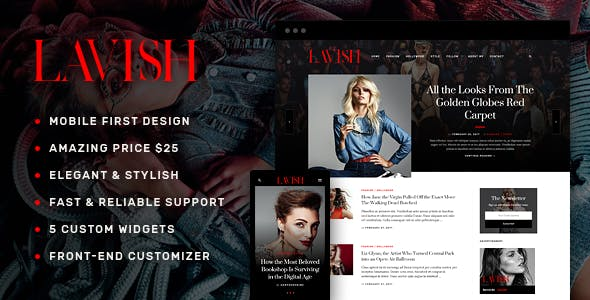 Lavish - Blog WordPress Theme