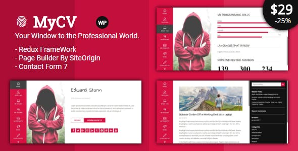MyCV - Personal Business VCard - WP