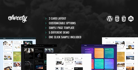 Sweety | Card Based, Clean WordPress Theme