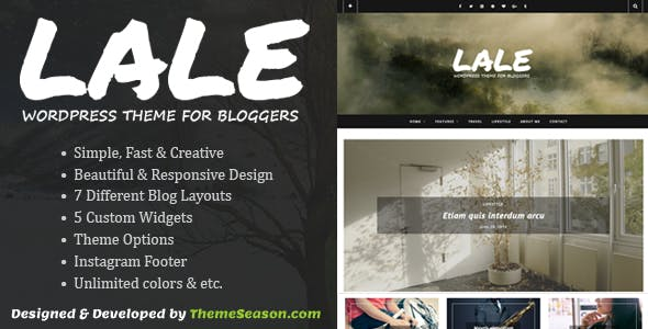 Lale - Responsive WordPress Theme For Bloggers