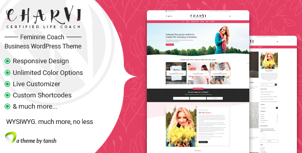 Charvi Coach & Consulting - Feminine Business WordPress Theme