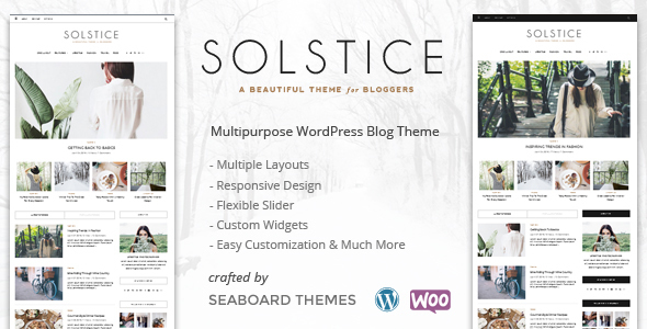 Solstice - A WordPress Shop Blog Theme