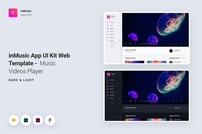 inMusic App UI Kit Web Template - Video Player