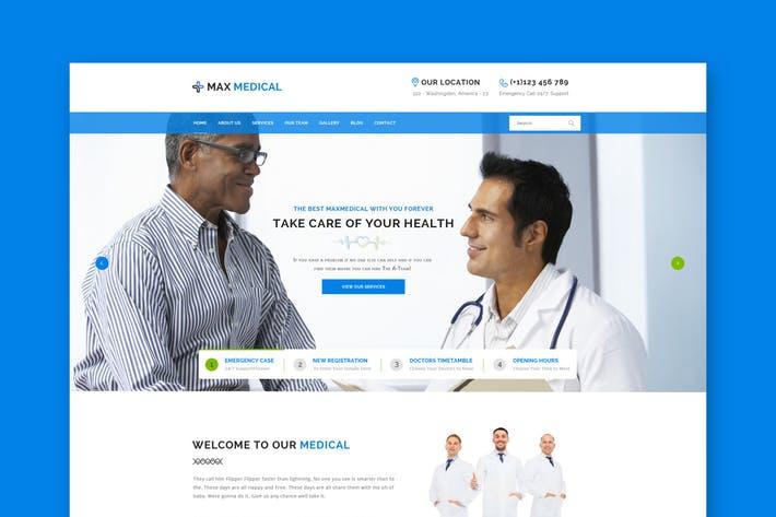 Medical Website PSD Template
