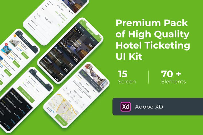 Hotel Booking UI KIT for XD