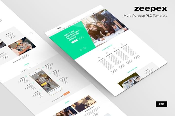 Zeepex – Portfolio PSD Website Template