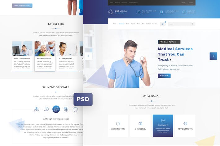 ProMedical - Health care & Medical PSD Template