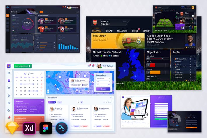Bundle - Three Dashboard UI Kit