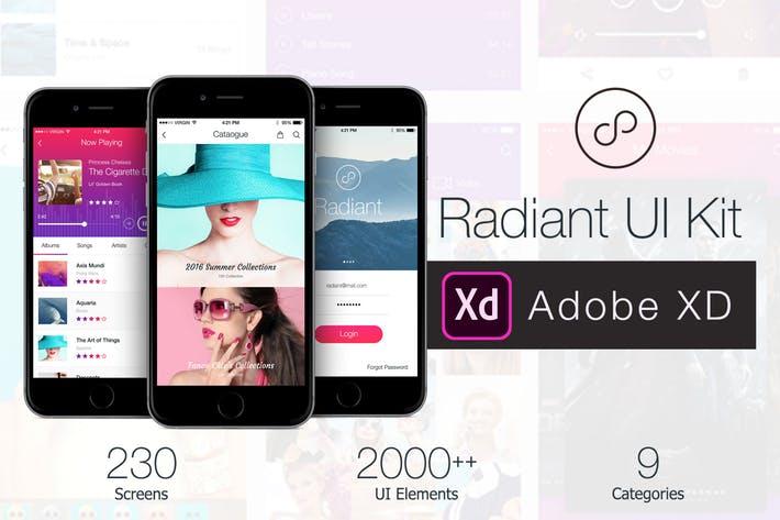 Radiant Mobile UI Kit - 200+ for XD