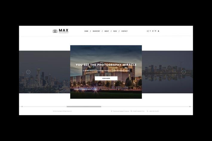 Photography Website PSD Template