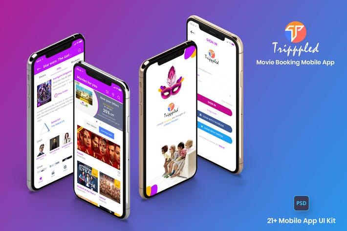 Tripppled-Movie Booking Mobile App UI Kit