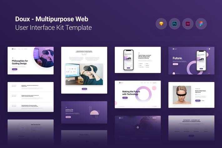 Doux Multi-purpose Web UI UX Kit Template Theme