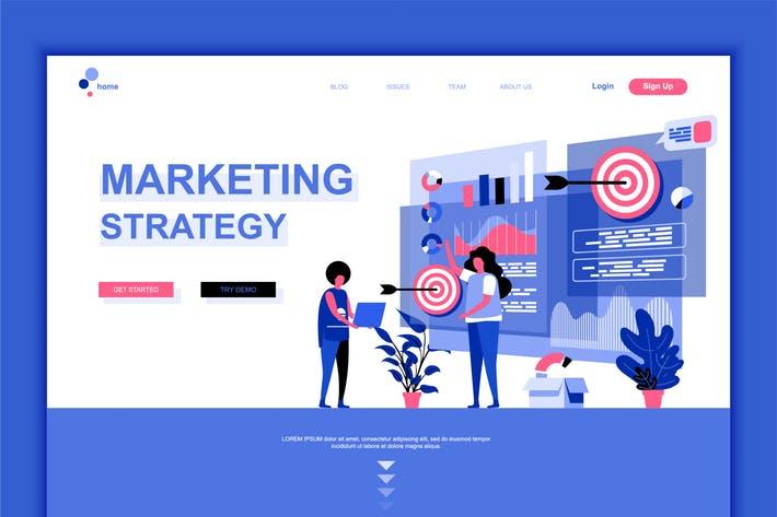 Digital Marketing Flat Landing Page Template
