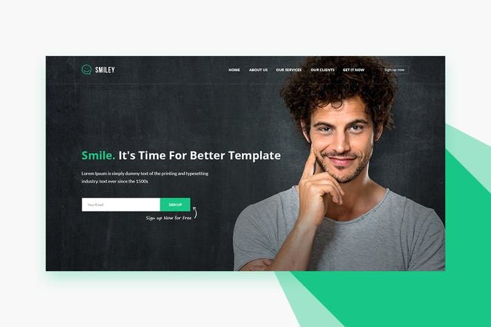Smiley - PSD Business & Startup Landing Page