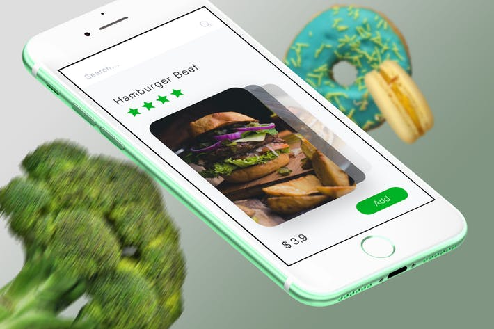 Food Cards Mobile Ui - T