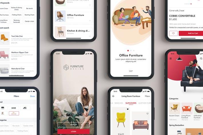 Furniture Design UI Kit