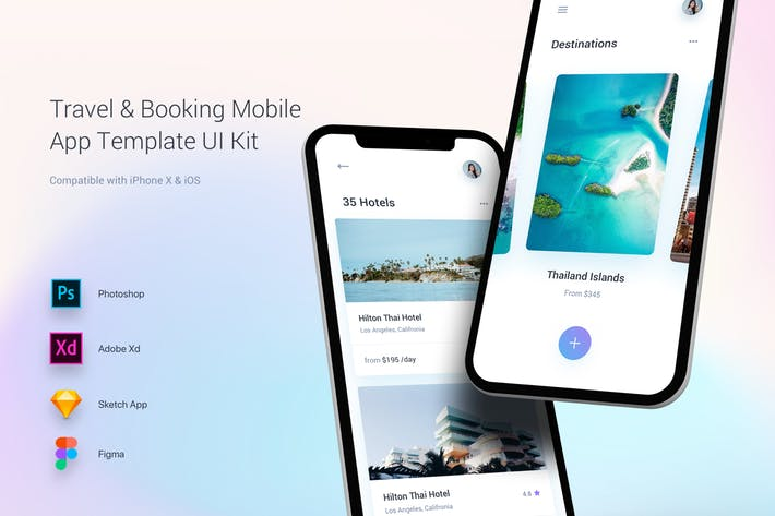 Travel & Booking Mobile App Template UI Kit