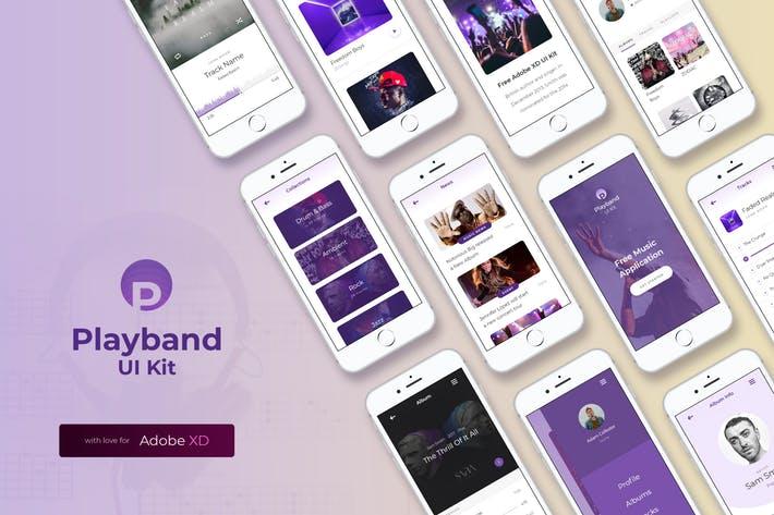 Playband Music iOS UI Kit