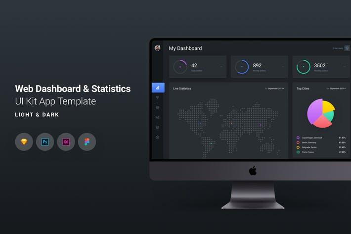 Web Dashboard & Statistics UI Kit App Template 7