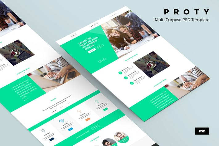 Proty – Multipurpose PSD Website Template