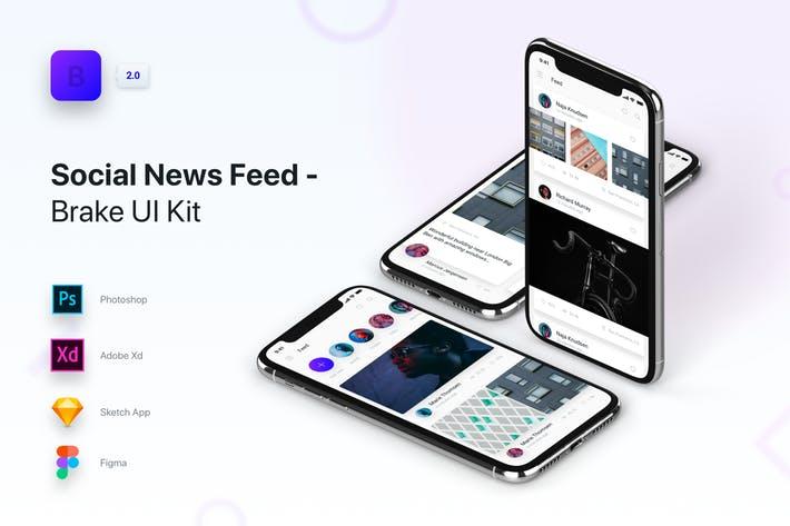 Brake UI Kit 2.0 - Social Media News Feed