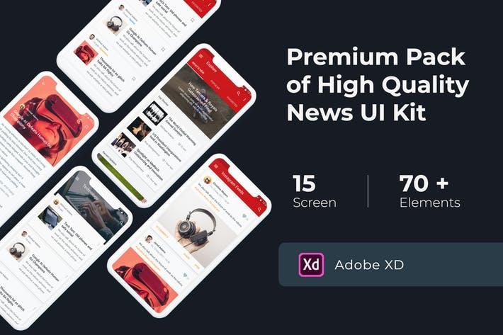 News & Media UI KIT for XD