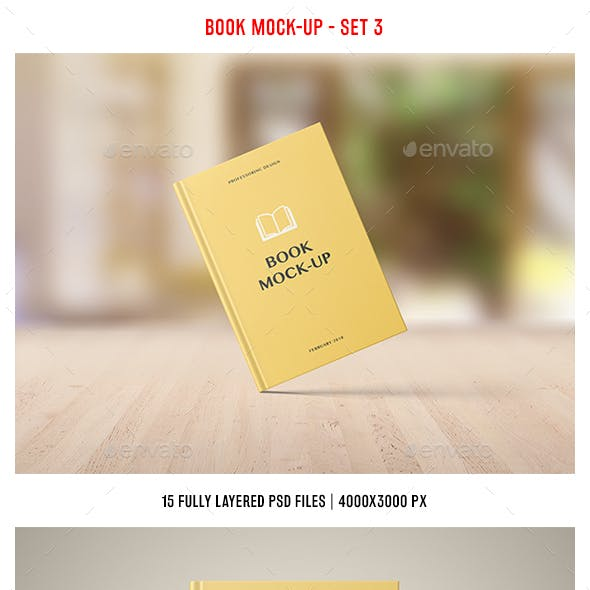 Book Mockup - Set 3
