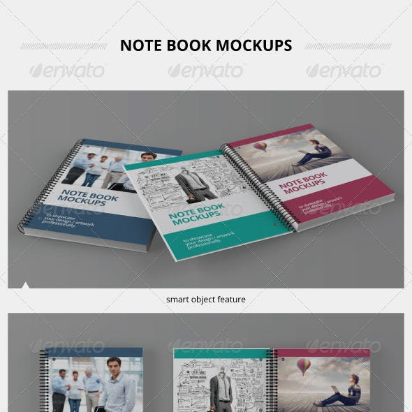 Note Book Mockups